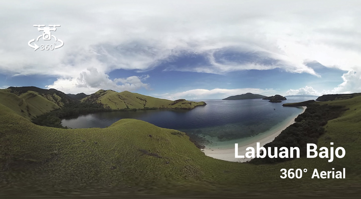 Aerial 360° video Labuan Bajo